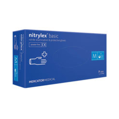 Рукавиці нітрилові сині Nitrilex Basic
