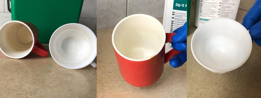 Як швидко очистити пожовтіння (чайний наліт) на чашках та іншому посуді?